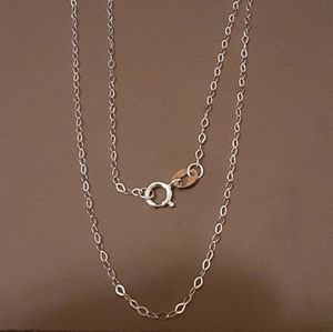 Jewelry - 10k solid Italian White Gold Chain 1.3mm